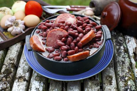 Purple bean feijoada