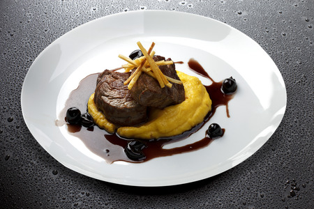 filet: Filet mignon with mashed