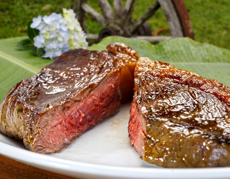 medium: Grilled beef steak Stock Photo