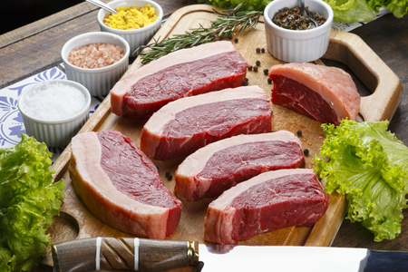 Raw picanha Stock Photo