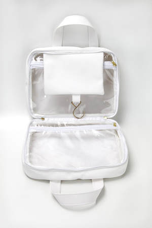 necessaire bag for miscellaneous use, bathroom, travel, toilet, hotel, school supplies Banque d'images
