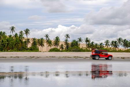 Jericoacoara is a virgin beach hidden behind the dunes of the west coast of Jijoca de Jericoacoara, Ceará, Brazil Stock Photo