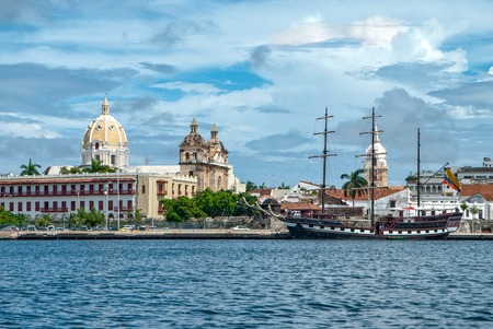 View of Cartagena de Indias, Colombia 스톡 콘텐츠