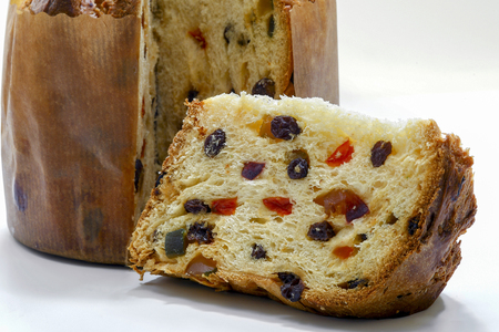 Close up of a sliced panettone Reklamní fotografie