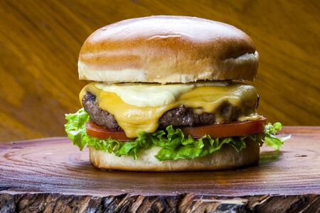 Delicious gourmet hamburger Stockfoto