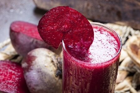 delicious fresh beet juice