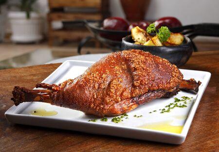 Pururuca pork shank, traditional Brazilian food