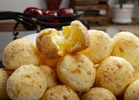 Brazilian snack cheese bread, pao de queijo