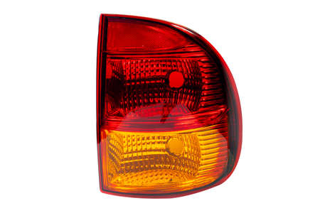 car rear headlight isolated on white background