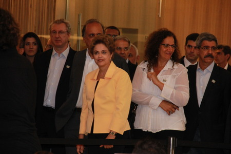 eduardo: Rio de Janeiro, Brazil, 17th December 2015: Dilma Rousseff, President of Brazil, Attended the opening of the Museum of Tomorrow, in Rio de Janeiro. Participants included the Governor Luiz Fernando de Souza, Mayor Eduardo Paes and members of Local Authorit
