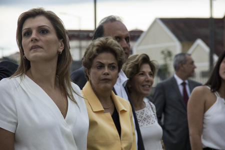 Rio de Janeiro, Brazil, 17th December 2015: Dilma Rousseff, President of Brazil, Attended the opening of the Museum of Tomorrow, in Rio de Janeiro. Participants included the Governor Luiz Fernando de Souza, Mayor Eduardo Paes and members of Local Authorit