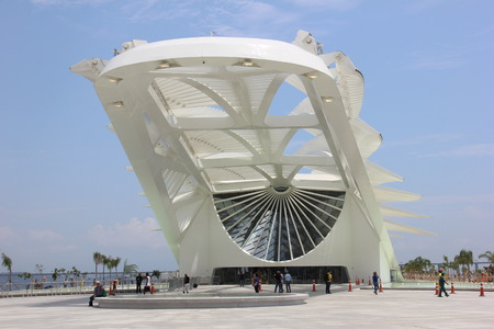 tomorrow: Rio de Janeiro, Brazil, 17th December 2015: Rio City Hall opens the Museum of Tomorrow in the Port Area. The newly opened Museum of Tomorrow science museum in Rio de Janeiros port area designed by Spanish architect Santiago Calatrava.