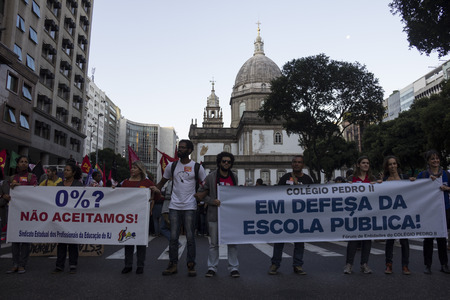 increasingly: Rio de Janeiro, Brazil, 16 June 2016: With the worsening political and economic crisis in which Brazil is passing, student groups and political activists are holding protests increasingly constants. On the afternoon of Thursday, thousands of people took a Editorial
