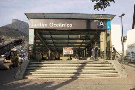 crisis economica: Río de Janeiro, Brasil 29 de junio de 2016: Para la realización de las obras de ampliación del Metro de Río de Janeiro siguen desaparecidos (BRL) R $ 1 mil millones. Debido a la crisis económica que afecta a Brasil y en especial el estado de Río de Janeiro, no hay dinero para