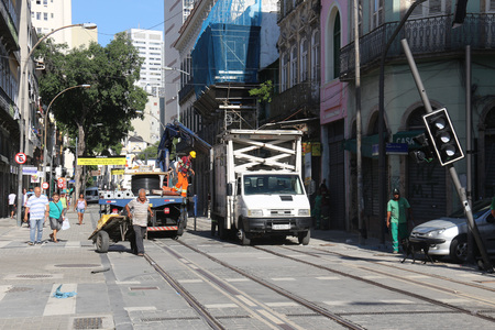 Rio de Janeiro, Brazil, 19 December 2016: Despite being officially inaugurated, the new stretch of VLT Carioca still does not work and is in the end stages of implementation. Sajtókép