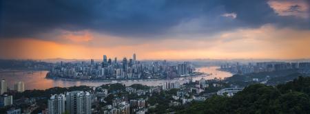 aerial view of Chongqing, China Stock Photo