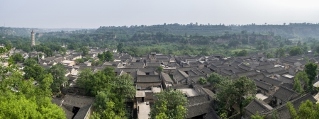 dwelling: ancient local-style dwelling houses in China Stock Photo