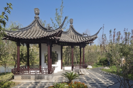 chinese traditional garden Stock Photo