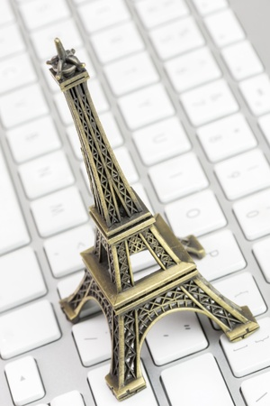 model eiffel tower Stock Photo - 18129926