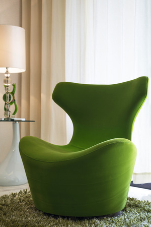 home green chair Stock Photo