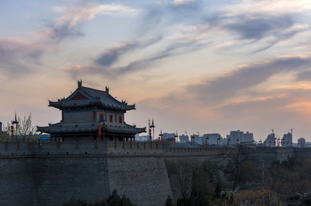 the ancient city wall of Xi An
