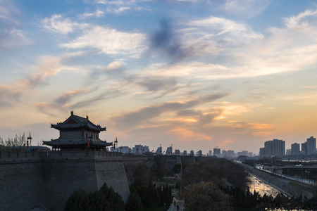 the ancient city wall of xi\'an