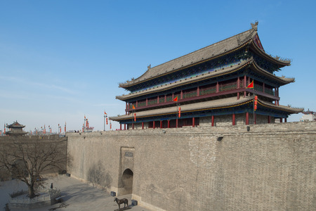 the ancient city wall of xian