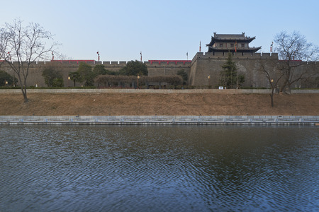 the ancient city wall of xi`an
