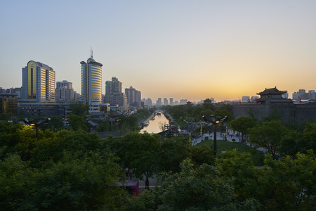 city panorama of xian