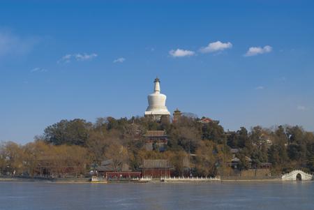 Landscape view of Beijing Beihai Park Editorial