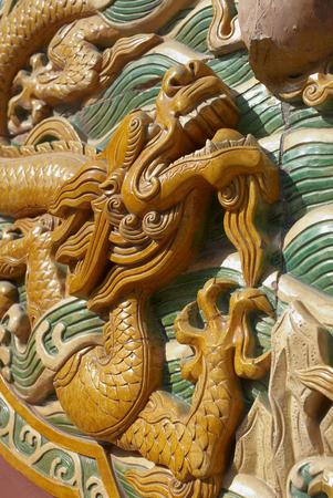 Closeup of a sculpture