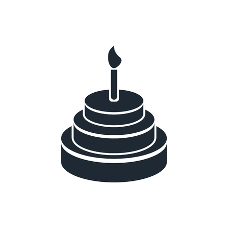 piece of cake: Birthday cake icon Illustration