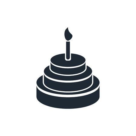 trozo de pastel: Icono de pastel de cumplea�os