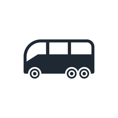 bus sign icon Illustration