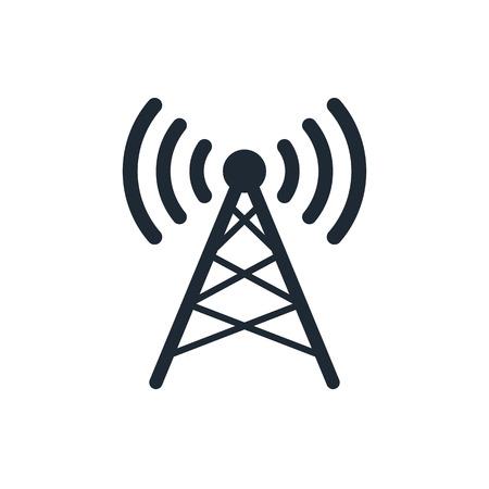 remote lock: Antena icono Vectores