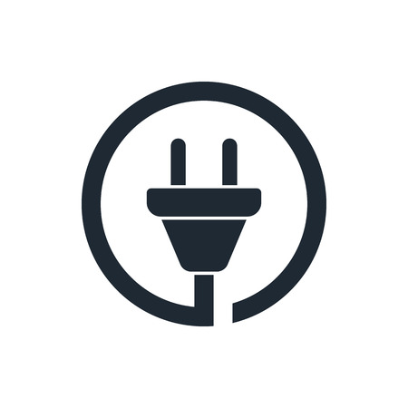 wire plug icon Ilustrace
