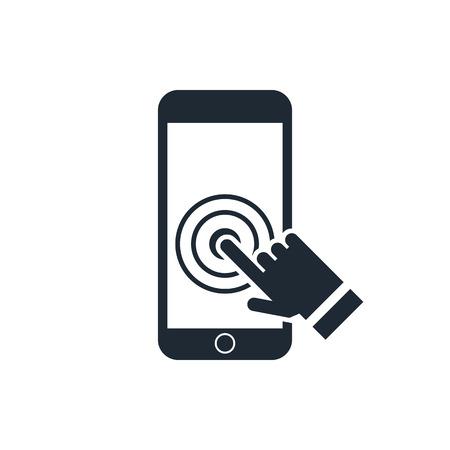 toque: �cone do smartphone da tela de toque