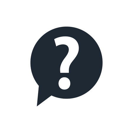 speech marks: Question mark sign icon