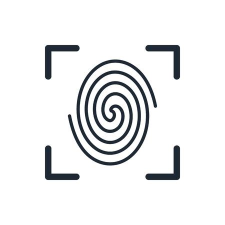 forensic science: Fingerprint icon