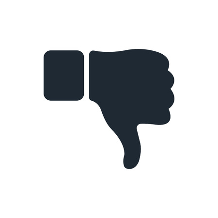negar: el pulgar hacia abajo icono Vectores