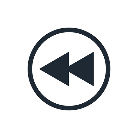 rewind: fast back rewind media player icon