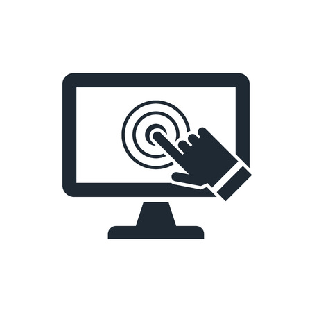 hand touch: pc screen touch icon