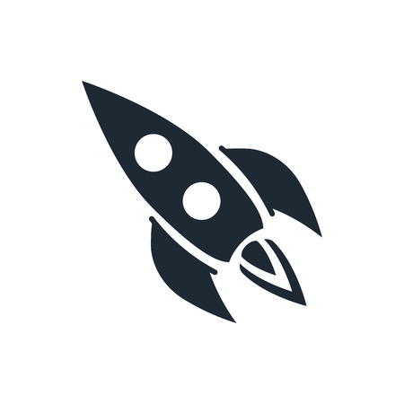 opportunity sign: rocket start up icon Illustration