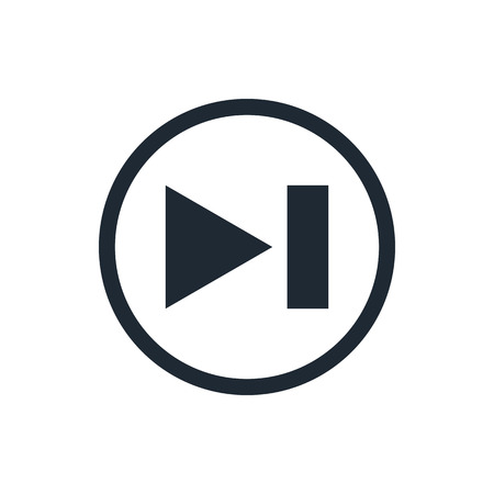 rewind: rewind media player icon Illustration