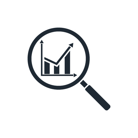 analysis: analysis icon Illustration