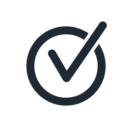 rounded check mark icon Stock Illustratie