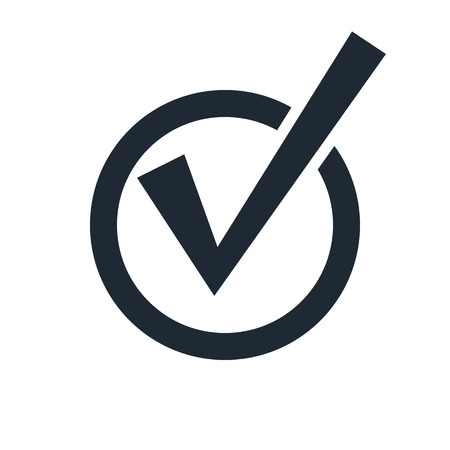 confirm confirmation: check mark icon Illustration