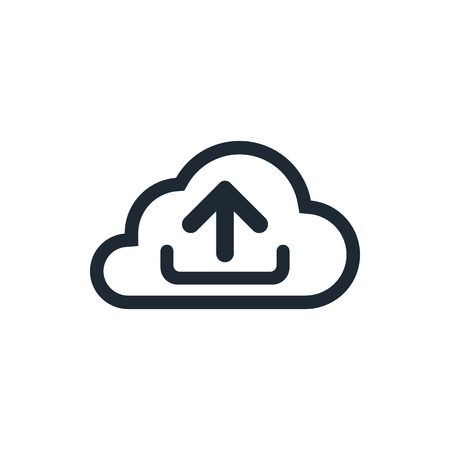 download cloud: outline download cloud icon