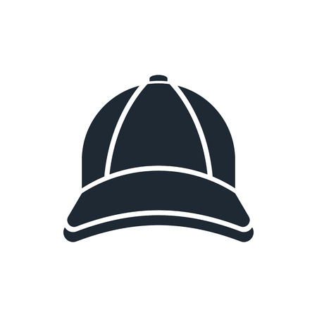 caps: icono de la gorra de béisbol Vectores