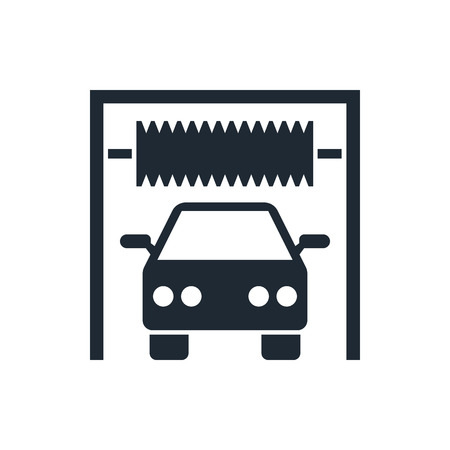car garage: car wash sign icon